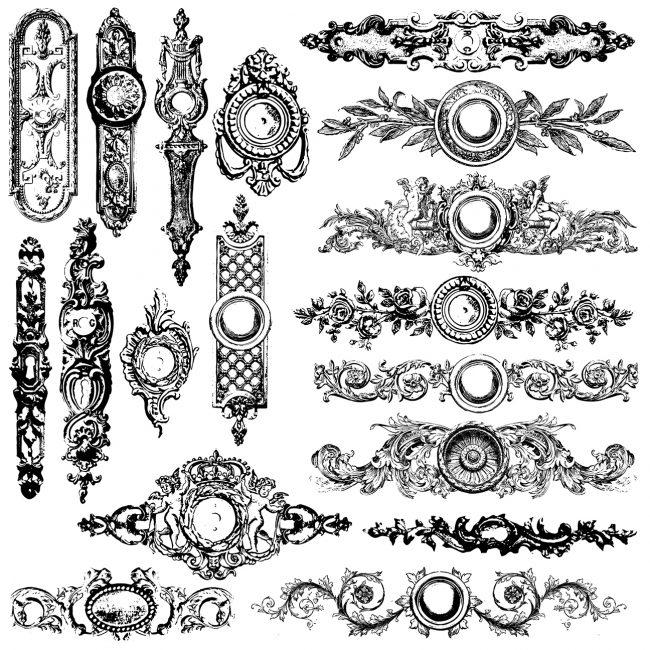 Ștampile decorative cu model de șilduri