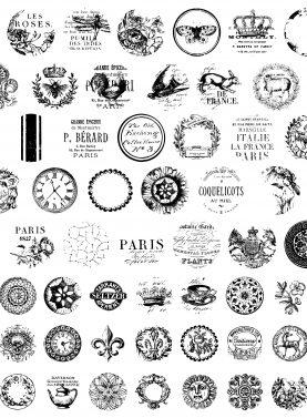 Ștampile decorative pentru butoane