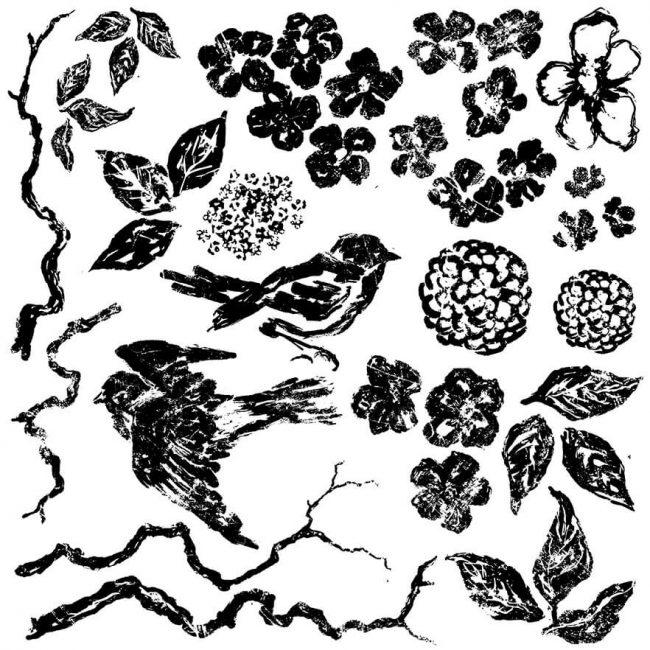 Ștampile decorative păsări