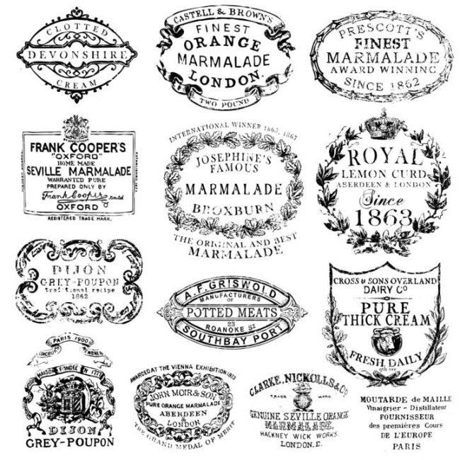 Ștampile decorative vintage